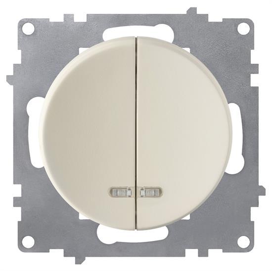 Выключатель OneKeyElectro двойной, с подсветкой - фото 8549