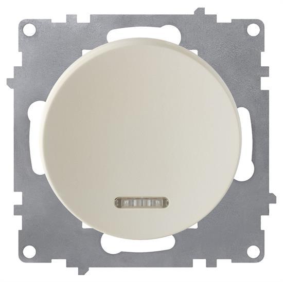 Выключатель OneKeyElectro одинарный, с подсветкой - фото 8577