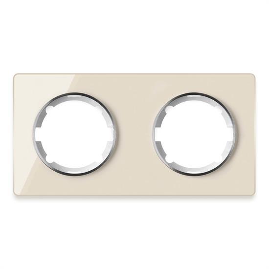 Рамка стеклянная OneKeyElectro, серия Garda, горизонтальная, 2 поста - фото 8756