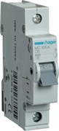 Автоматический выключатель Hager 1P 6kA C-6A 1M MC106A