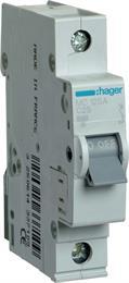 Автоматический выключатель Hager 1P 6kA C-25A 1M MC125A