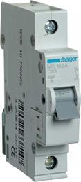 Автоматический выключатель Hager 1P 6kA С-63A 1M MC163A