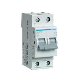 Автоматический выключатель Hager 2P 4, 5kA C-10A 2M