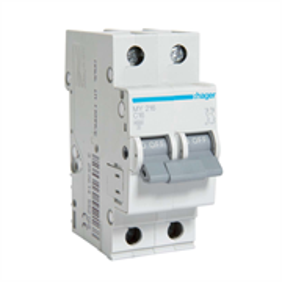 Автоматический выключатель Hager 2P 4, 5kA C-16A 2M