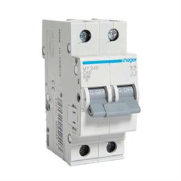 Автоматический выключатель Hager 2P 4, 5kA C-40A 2M