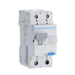Дифференциальный автоматический выключатель Hager 1P+N 4.5kA C-20A 30mA