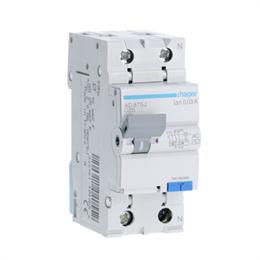 Дифференциальный автоматический выключатель Hager 1P+N 4.5kA C-25A 30mA