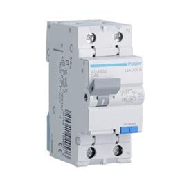 Дифференциальный автоматический выключатель Hager 1P+N 4.5kA C-40A 30mA