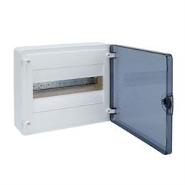 Щит открытой установки Hager, 12М, с прозрачной дверцей