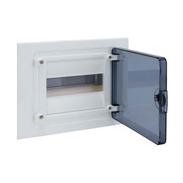 Щит скрытой установки Hager, 8М, с прозрачной дверцей
