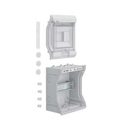 Щиток распределительный навесной Hager Vector, IP65, 6M, прозрачная дверь